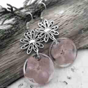 Herbarium Jewelry. kolczyki-z-żywicy hortensje-w-żywicy