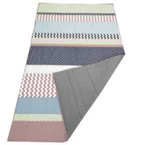 Narzuta patchwork stripes - kolor 135x215cm koce i narzuty