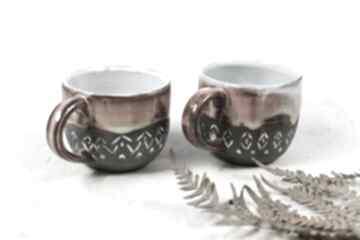 2 kubki ceramiczne - zestaw kawowy slavic 330 ml ceramika