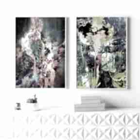 Zestaw abstrakcji - plakaty 61x91cm hogstudio plakatów, plakat
