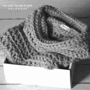 Szary sweter zamówienie p justyna swetry the wool art sweter