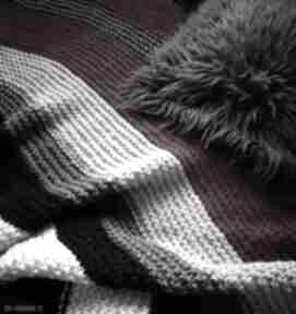 Gruby pled boho koce i narzuty the wool art koc, narzuta, pled