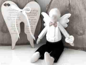 Anioł pamiątka pierwszej komunii świętej chrztu świętego lalki