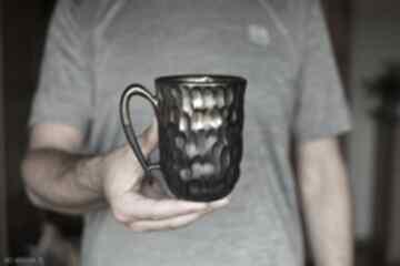 Kubek czarne złoto ceramika 325 ml kubki ciepliki kubek