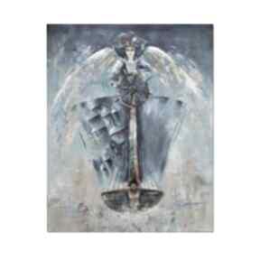 Anioł dhar, obraz ręcznie malowany aleksandrab obraz, anioł,