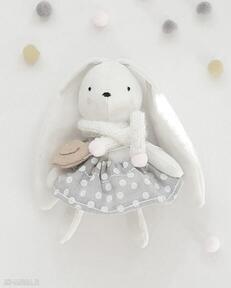 Króliczek w groszki dla dziecka tuulik krolik, przytulanka