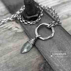 Srebro i zielony kianit - naszyjnik z zawieszką, kamieniem