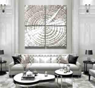 Tree rings -ogromny obraz 4-częściowy - dekoracja na duże
