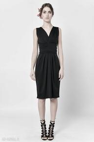 Tulipan - czarna spódnica midi spódnice milita nikonorov