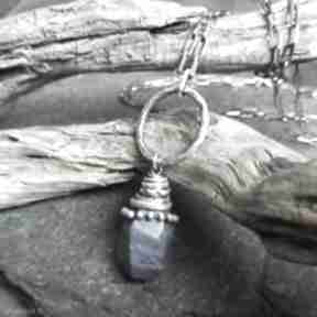 Naszyjnik ze srebra i lapisu lazuli naszyjniki treendy srebro
