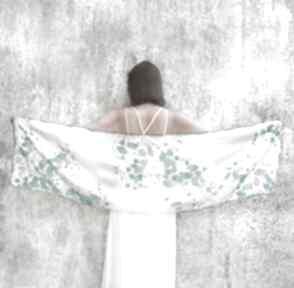 Biały szal z jedwabiu bluszcz chustki i apaszki minkulul szal