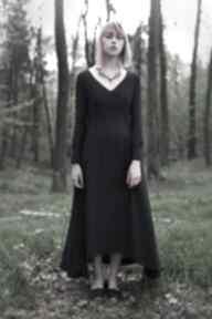 Jedwabna czarna 2 sukienki monika jaworska imprezowa, jedwab
