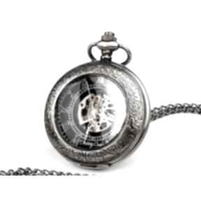 Elegancja czerni ii - zegarek na łańcuszku zegarki drobinyczasu