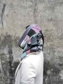 Komin patchworkowy boho handmade kolorowy ciepły - box 44 szyty