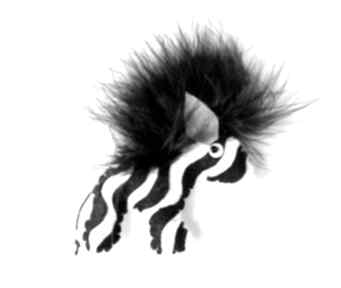 broszki zebra - broszka z filcu
