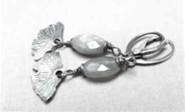 Kolczyki ze srebra i labradorytu 783 tilia pracownia srerbo