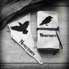 Zestaw skórzany nevermore: mały notes i naszywka notesy wolfpath