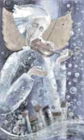 Muzyka nad miastem marina czajkowska anioł, muzyka, na-ścianę