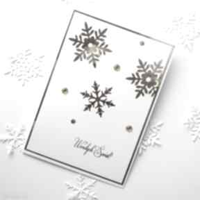 Pomysł na prezent: Kartka świąteczna - glam 5 scrapbooking kartki