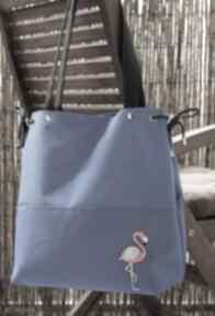 Torba z haftem - flaming na ramię happyart torba, flaming