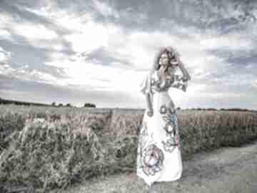 Magdalena maxi flower - sukienka sukienki milita nikonorov