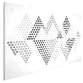 Obraz na płótnie - trójkąty kropki pastele 120x80 cm 73801 vaku