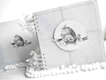 Album z misiem pudełko scrapbooking albumy zuziucha album