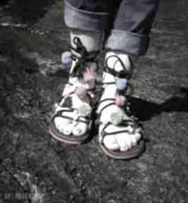 Kolorowe rzymianki zdobione ręcznie buty mrosoutache rzymianki