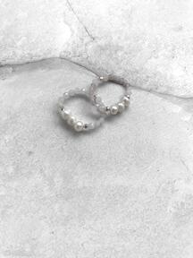 Pierścionek - kryształ górski, perły in stones kryształ-górski,