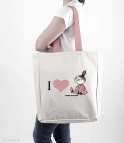 Licencjonowana torba xxl muminki z czerwonym i love mała mi