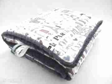 Oryginalny minky kocyk 75x100 - paryż pokoik dziecka tulibuzi