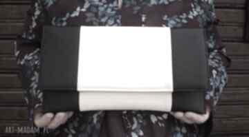 Kopertówka - czarna i środek jasny beż torebki niezwykle