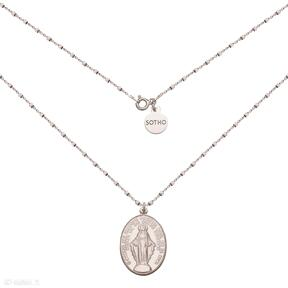 Naszyjnik różowego złota medalikiem łańcuszek różowe złoto