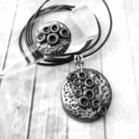 1043 mela - komplet wisior i pierścionek z polimeru art komplet