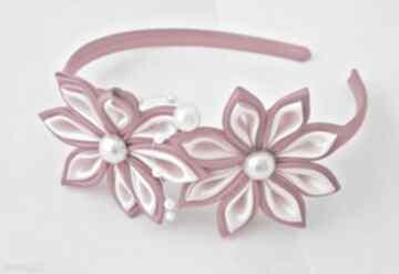 Różowa opaska dla dziewczynki opaski ozdoba prezent ręcznie