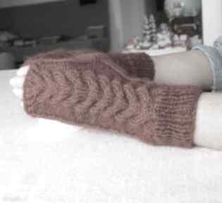 Miedziane mitenki rękawiczki jaga11 wygodne, ciepłe, eleganckie