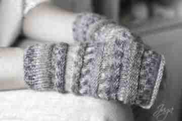 Mitenki lawendowe rękawiczki jaga11 mitenki, rękodzieło,