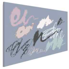 Obraz na płótnie - abstrakcja niebieski 120x80 cm 55003 vaku