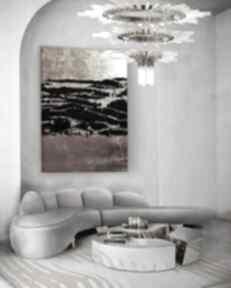 Copper treasure - nowoczesny obraz do salonu z metaliczną