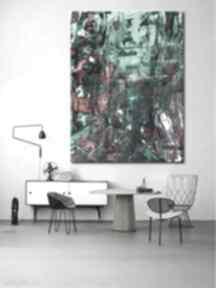 Obraz abstrakcyjne zielenie dekoracje art and texture zielona