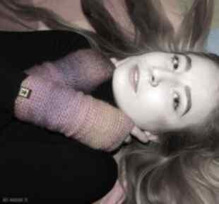 Mitenki fioletowo-różowe rękawiczki barska mitenki, rękawiczki