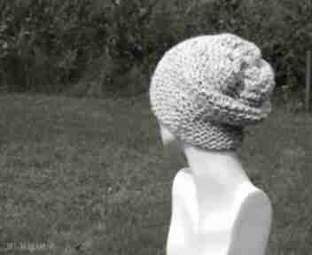 czapkinakrapiana tweedowa przaśna ciekawa gruba dziergana