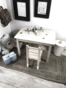 Stolik biurko plus krzesełko - zestaw mebli dziecięcych pokoik
