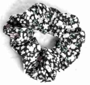 Gumka do włosów-akcesoria stylizacji włosów-drobne kwiatki lona