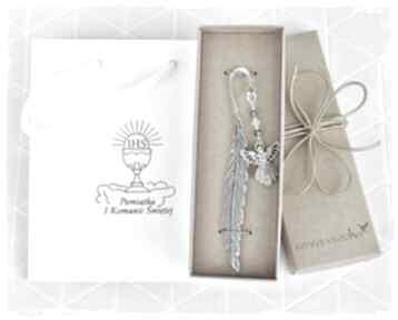 Święta prezent: Anioł z kryształami - zakładko do biblii
