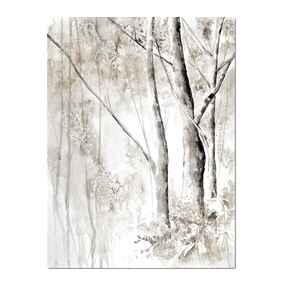 Leśna impresja 3 akwarela aleksandrab akwarela, pejzaż, las