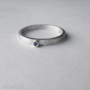 Okrąg pierścionek katarzyna kaminska srebro, zmatowione,