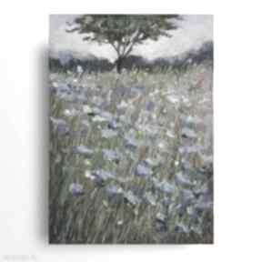Niebieska łąka-praca wykonana pastelami suchymi paulina lebida