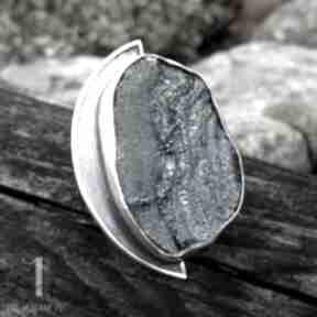 miechunka? srebro chalcedon róża tytan pierścionek