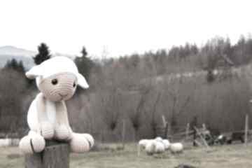 Igaladesignowca szydełkowa sheep owieczka maskotka lamb